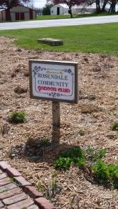 Rosendale Garden Club sign